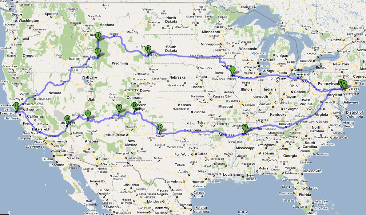 On The Road Again Heary RV Adventures - Complete us map